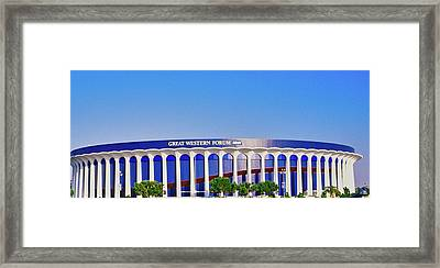 Great Western Forum, Home Of The La Framed Print