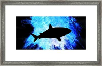 Ocean Framed Print featuring the painting Great White by Aaron Berg