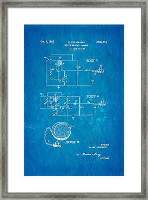 Greatbatch Cardiac Pacemaker Patent Art 1962 Blueprint Framed Print by Ian Monk
