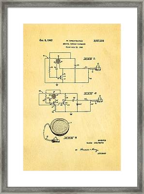 Greatbatch Cardiac Pacemaker Patent Art 1962 Framed Print by Ian Monk