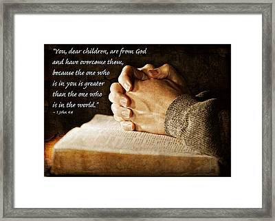 Greater Is He In You Framed Print