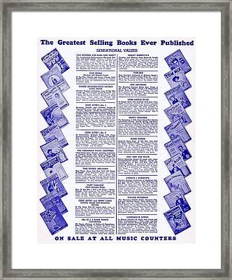 Greatest Selling Books Framed Print