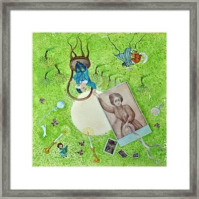 Greatgrandma And Greatgrampa Framed Print by Nekoda  Singer