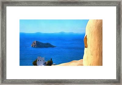 Grecian Blue Framed Print