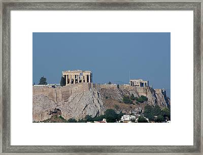 Greece, Athens Downtown Athens View Framed Print