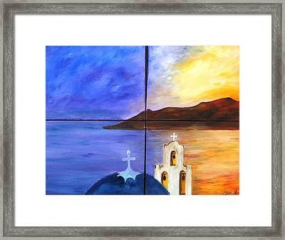 Greece Framed Print by Doris Cohen