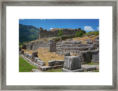 Greece, Epirus. Ruins Of Ancient Framed Print