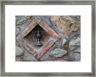 Greece, Meteora Oil Lamp Embedded Framed Print by Jaynes Gallery