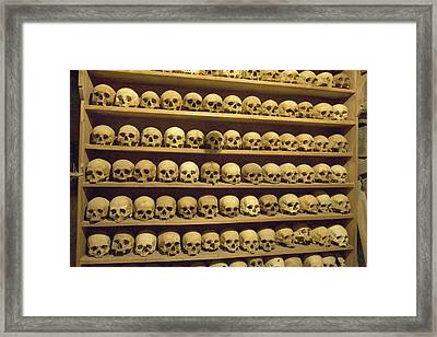 Greece, Meteora Skulls Of Monastics Framed Print by Jaynes Gallery