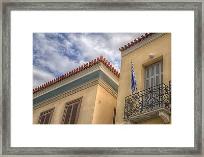Framed Print featuring the photograph Greece by Micah Goff