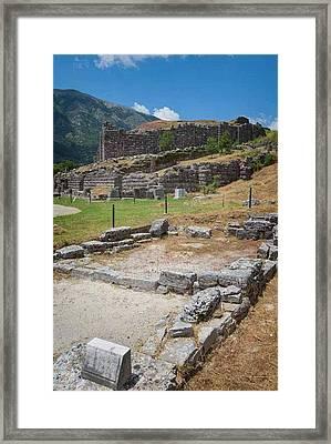 Greece. Ruins Of Ancient Dodoni Framed Print