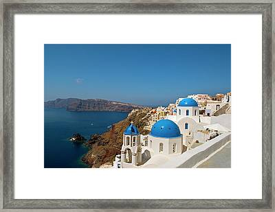 Greece, Santorini Framed Print