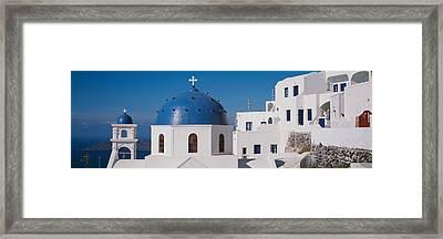 Greece, Santorini, Fira, Church Framed Print