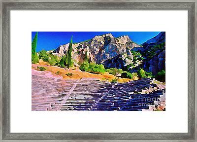 Greek Amphitheatre Framed Print by John Malone