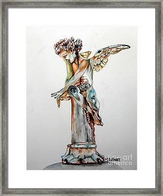 Greek Angel Framed Print by Maria Barry