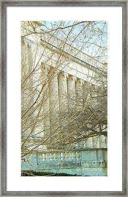 Framed Print featuring the photograph Greek Architecture by Brigitte Emme