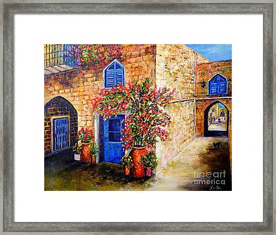 Greek Bouganvillia Framed Print