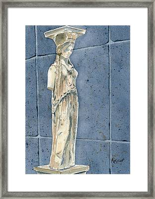 Greek Caryatid Framed Print