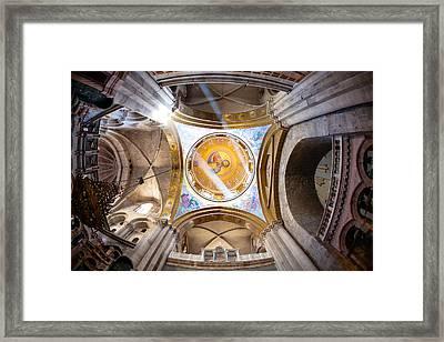 Greek Chapel Framed Print by Alexey Stiop