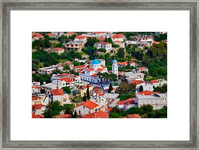 Greek Church - Agios Markos Framed Print by Emmanouil Klimis