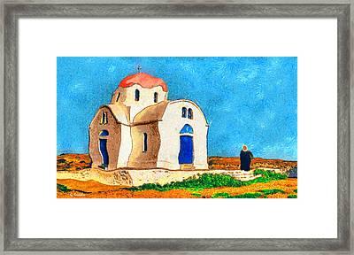 Greek Church 4a Framed Print by George Rossidis