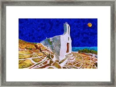 Greek Church 5 Framed Print by George Rossidis