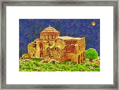 Greek Church 6 Framed Print by George Rossidis