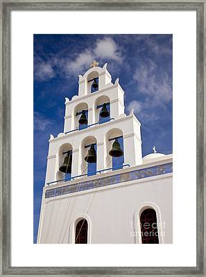 Greek Church Bells Framed Print by Brian Jannsen
