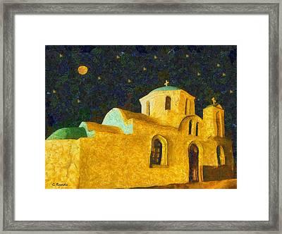 Greek Church Framed Print by George Rossidis