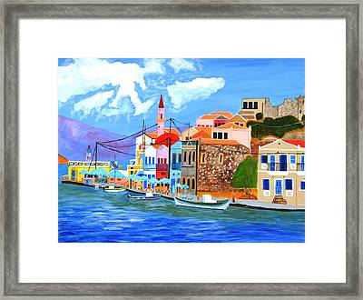 Greek Coast Framed Print
