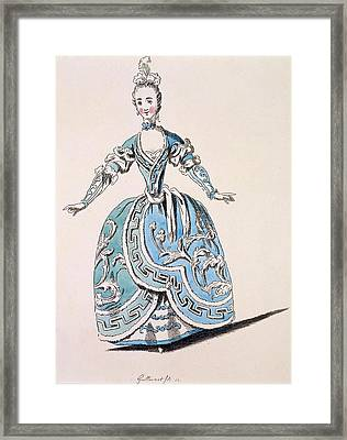 Greek Costume For The Chorus Framed Print by French School