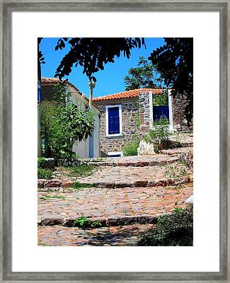 Framed Print featuring the photograph Greek Country House by Andreas Thust