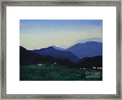 Greek Countryside Framed Print