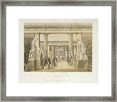 Greek Court Framed Print