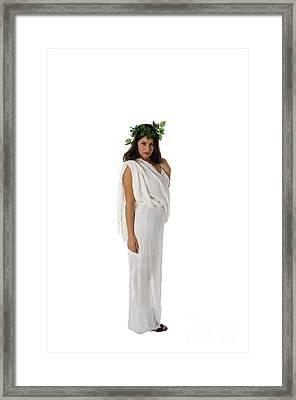 Greek Goddess  Framed Print by Ilan Rosen