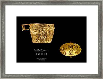 Greek Gold - Minoan Gold Framed Print by Helena Kay
