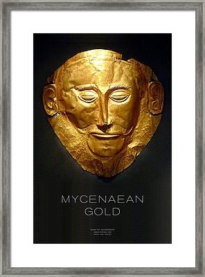 Greek Gold - Mycenaean Gold Framed Print by Helena Kay