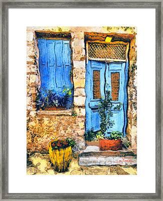 Greek House 66 Framed Print by George Rossidis