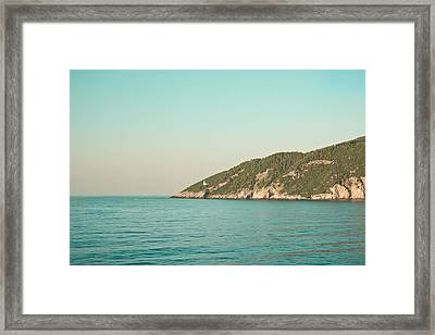 Greek Island Framed Print by Tom Gowanlock