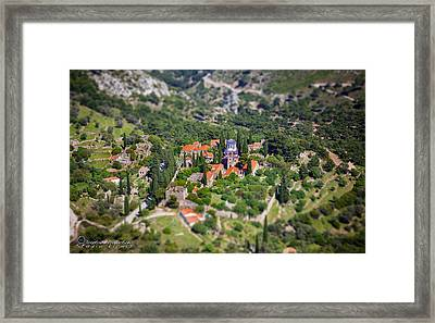 Greek Monastery - Nea Moni Framed Print by Emmanouil Klimis