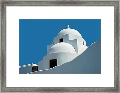 Greek Orthdox Church In Mykonos Framed Print by Ed Freeman