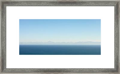 Greek Panorama Framed Print by Tom Gowanlock
