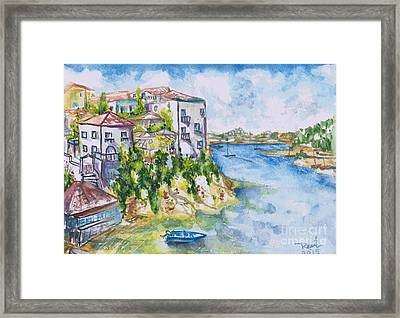 Greek Playground  Framed Print