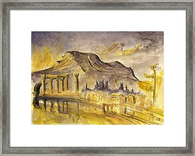Greek Ruins Framed Print by Juan  Bosco