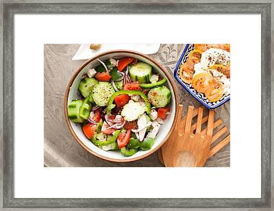 Greek Salad Framed Print
