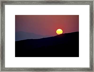 Greek Sunset Framed Print by Frits Selier