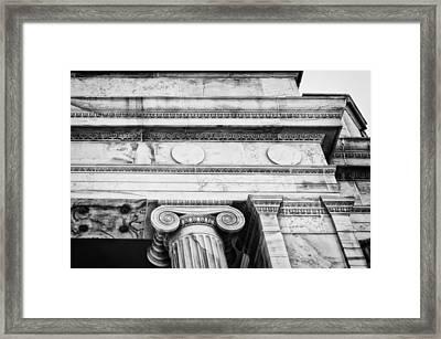 Greek Theatre 5 Bw Framed Print
