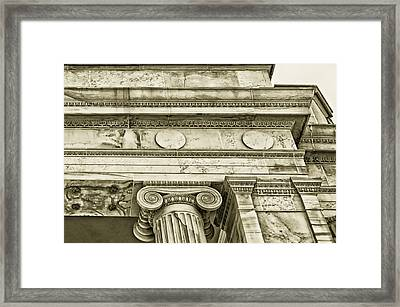 Greek Theatre 5 Golden Age Framed Print by Angelina Vick