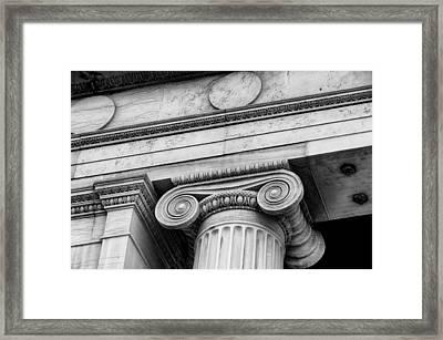 Greek Theatre 6 Bw Framed Print by Angelina Vick