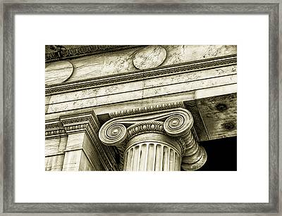 Greek Theatre 6 Golden Age Framed Print by Angelina Vick